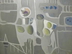 Bores. Bodegó en gris 1960. 97x130 cm